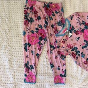 Betsey Johnson Pajamas - Betsy Johnson pink floral pajama set. Size 14